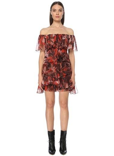 NetWork Kadın 1073451 Desenli Mini Boy Elbise Kırmızı